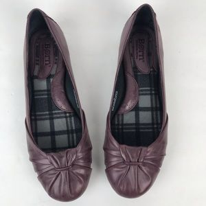 Born purple knot leather arch support flats round